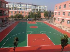 学校硅pu球场