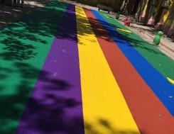 幼儿园彩色塑胶跑道